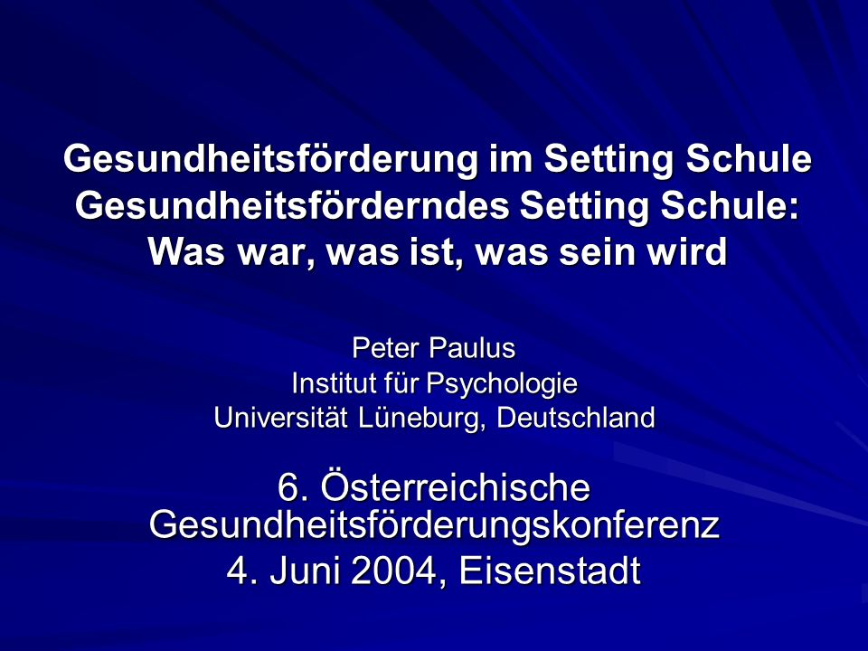 6. Österreichische Gesundheitsförderungskonferenz