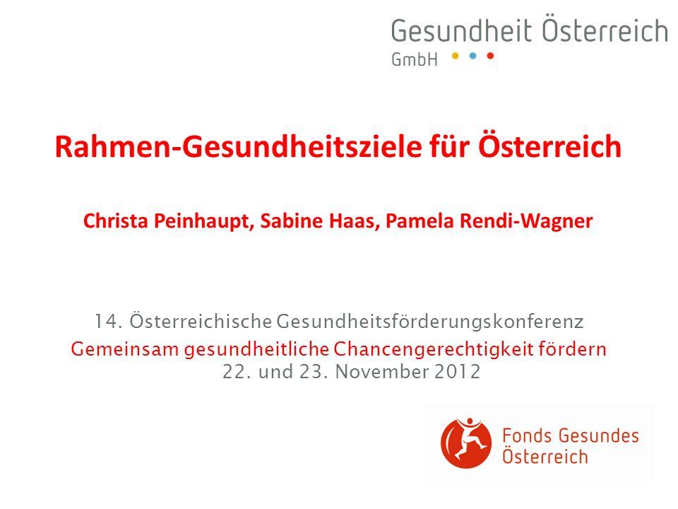 14. Österreichische Gesundheitsförderungskonferenz