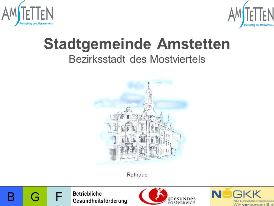Stadtgemeinde Amstetten Bezirksstadt des Mostviertels