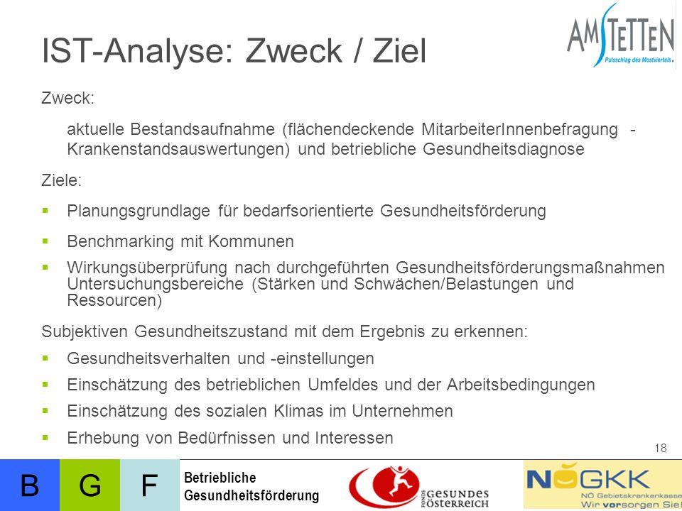 IST-Analyse: Zweck / Ziel