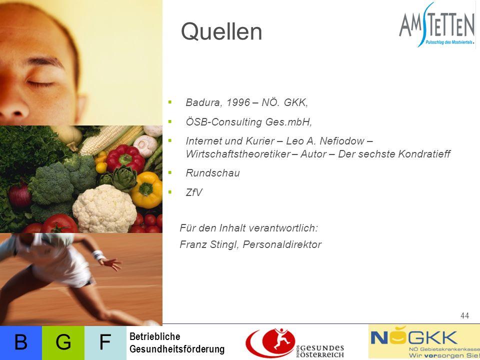 Quellen Badura, 1996 – NÖ. GKK, ÖSB-Consulting Ges.mbH,