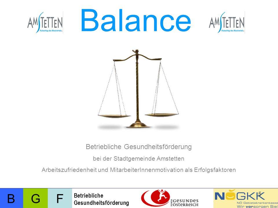 Balance Betriebliche Gesundheitsförderung