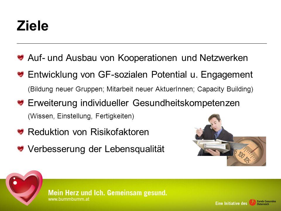 Ziele Auf- und Ausbau von Kooperationen und Netzwerken