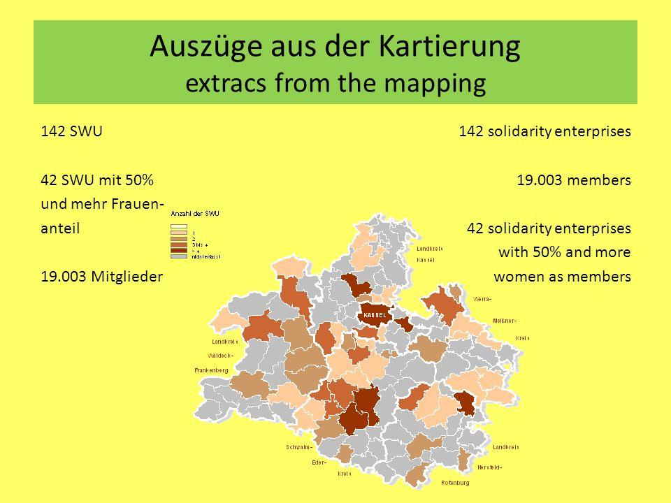 Auszüge aus der Kartierung extracs from the mapping