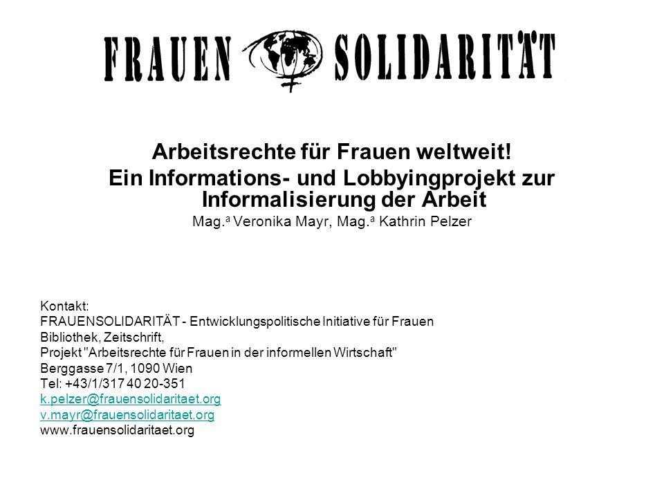 Arbeitsrechte für Frauen weltweit!