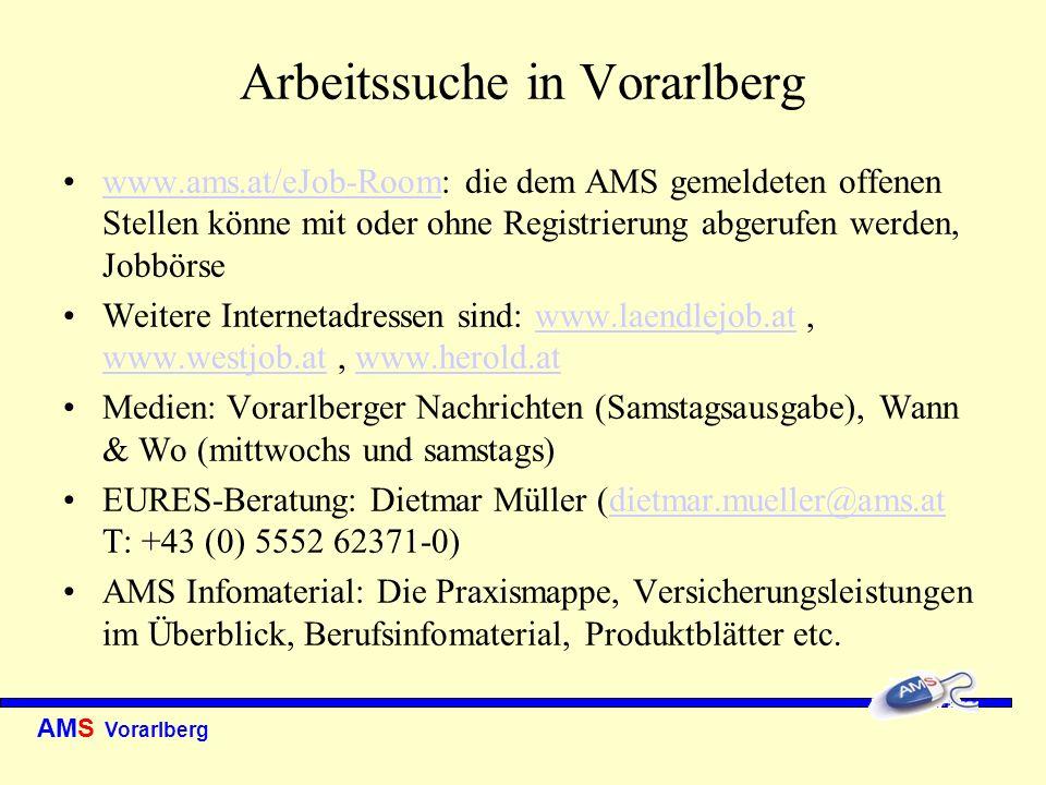Arbeitssuche in Vorarlberg