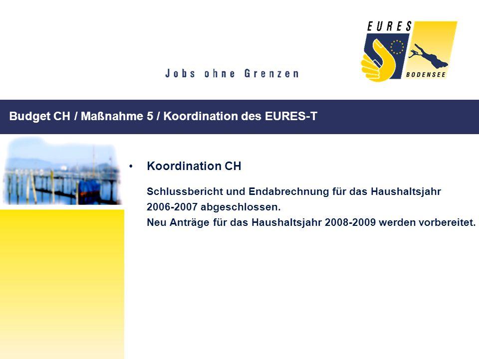 Budget CH / Maßnahme 5 / Koordination des EURES-T