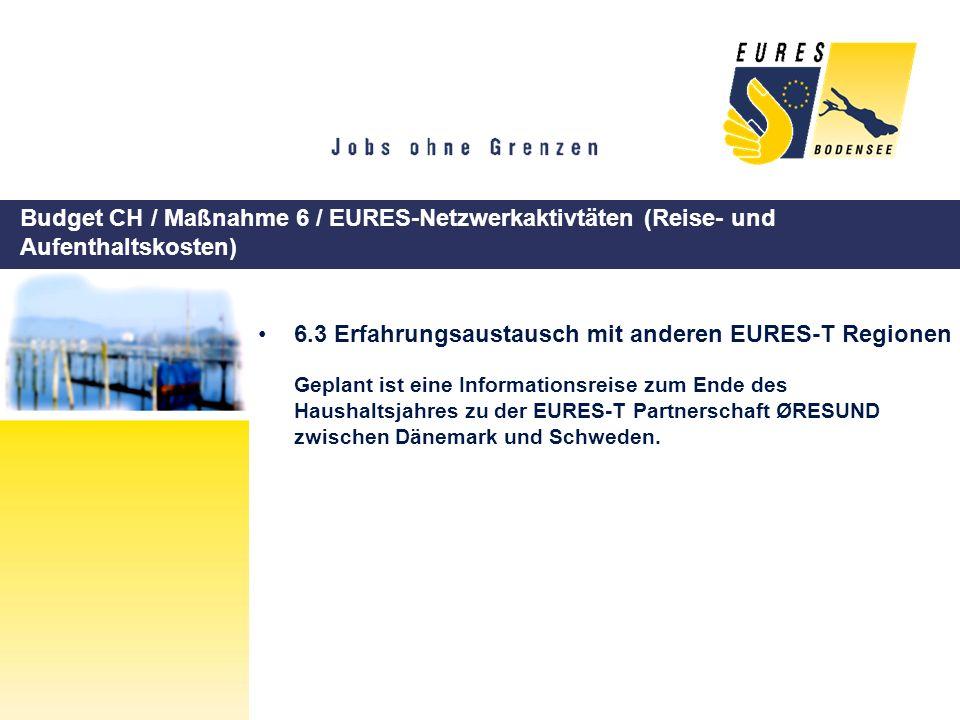 6.3 Erfahrungsaustausch mit anderen EURES-T Regionen
