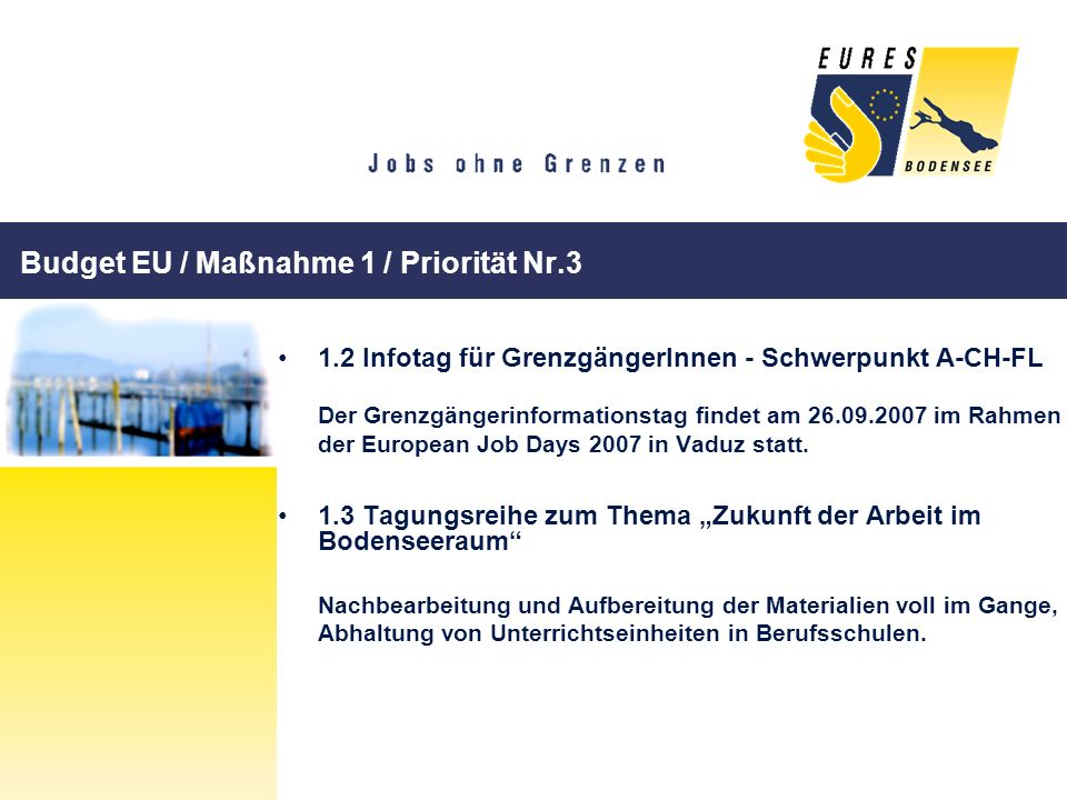 Budget EU / Maßnahme 1 / Priorität Nr.3