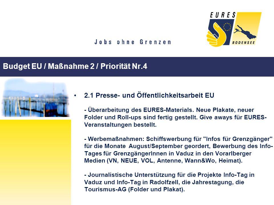 Budget EU / Maßnahme 2 / Priorität Nr.4