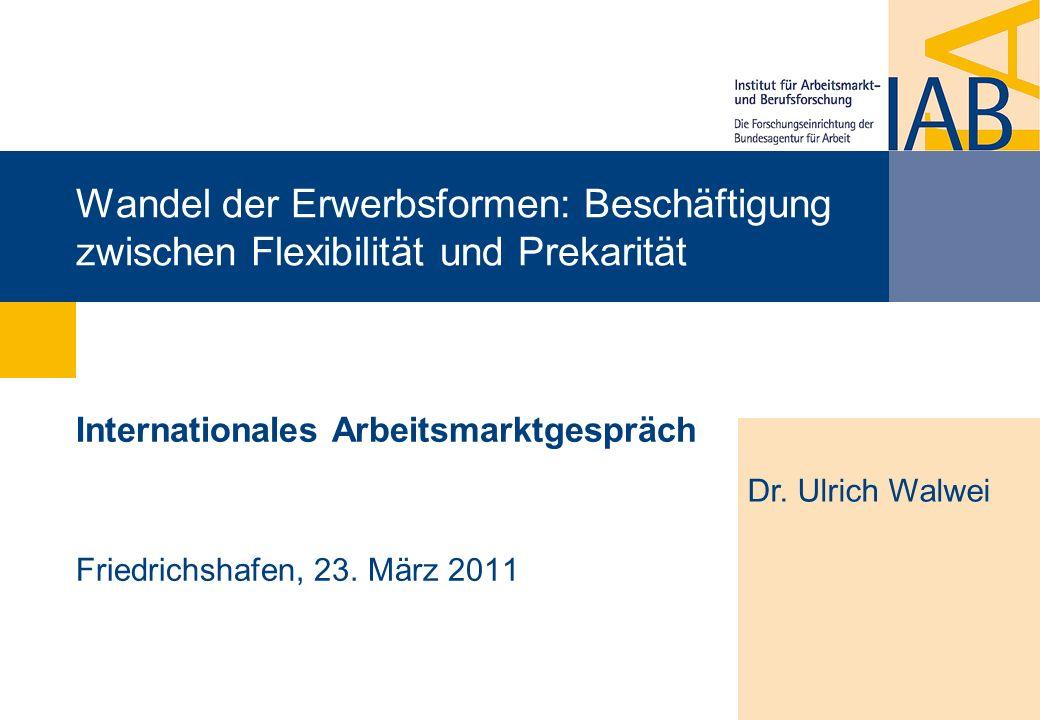 Internationales Arbeitsmarktgespräch Friedrichshafen, 23. März 2011