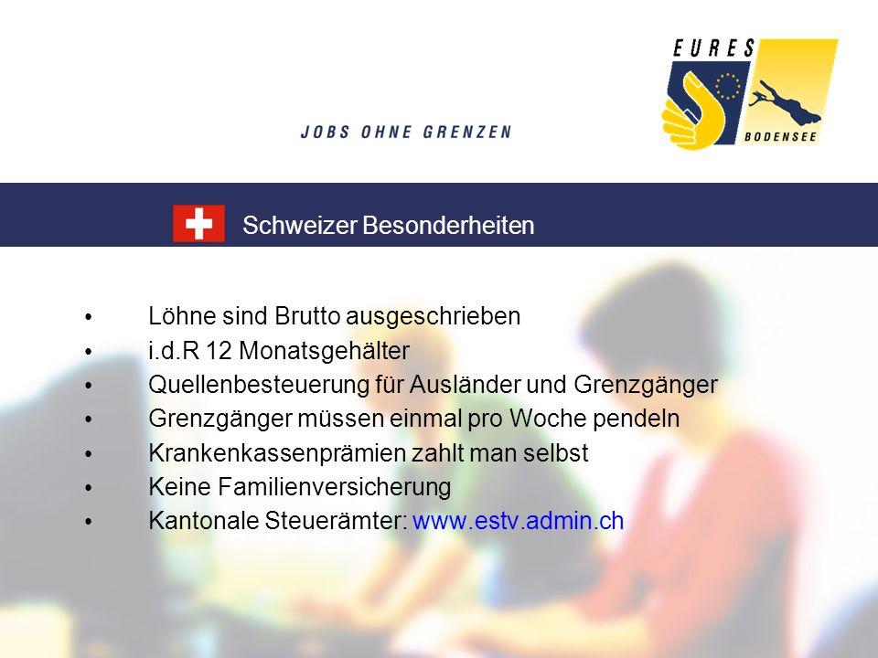 Schweizer Besonderheiten