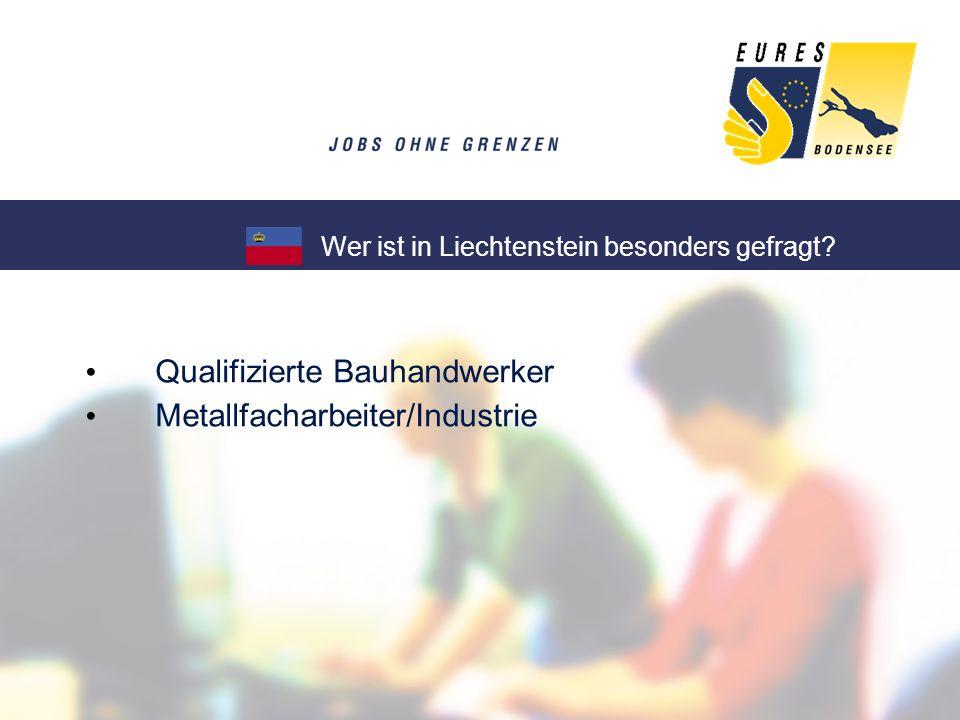 Qualifizierte Bauhandwerker Metallfacharbeiter/Industrie