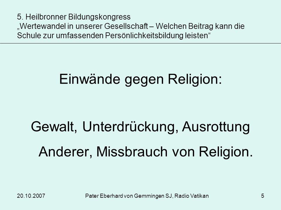 Einwände gegen Religion:
