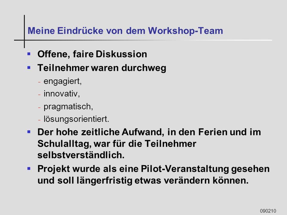 Meine Eindrücke von dem Workshop-Team