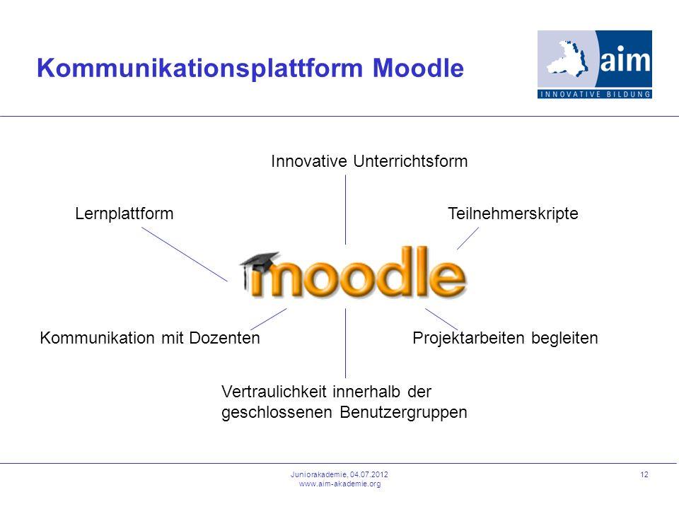 Kommunikationsplattform Moodle
