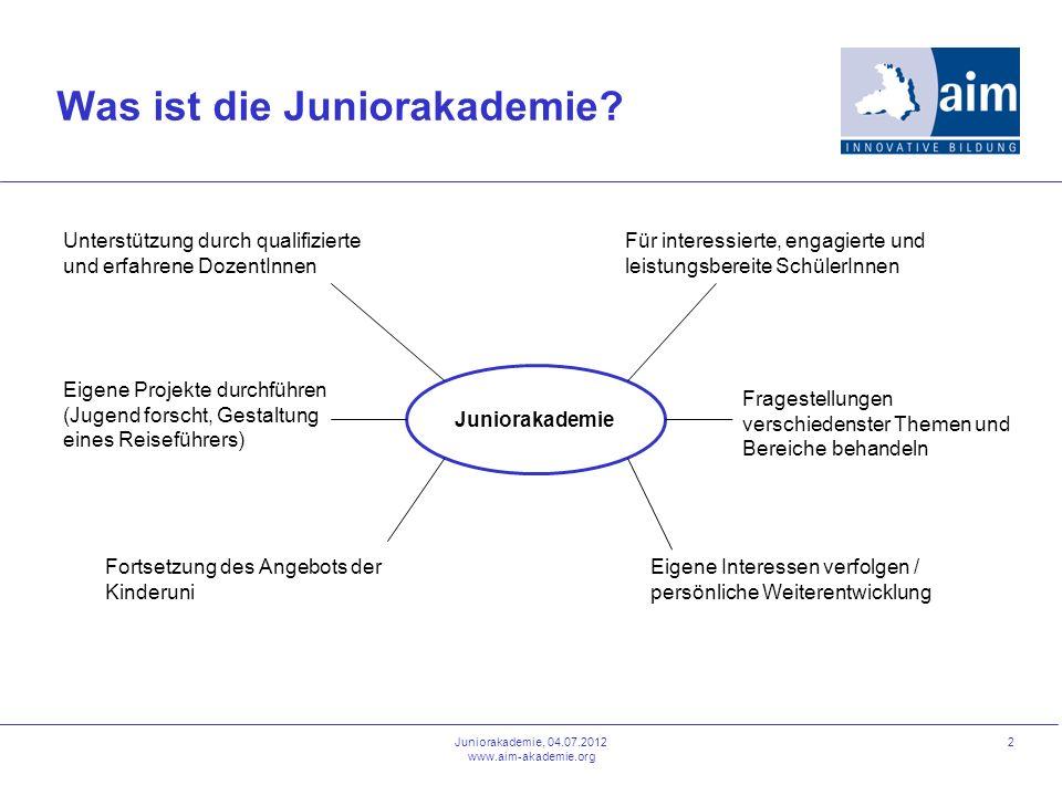 Was ist die Juniorakademie