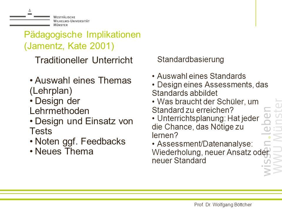 Pädagogische Implikationen (Jamentz, Kate 2001)