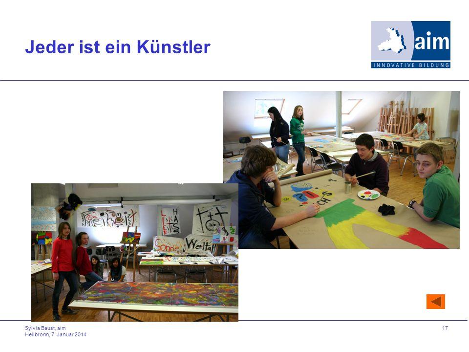 Jeder ist ein Künstler Sylvia Baust, aim Heilbronn, 27. März 2017
