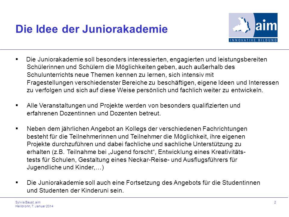 Die Idee der Juniorakademie