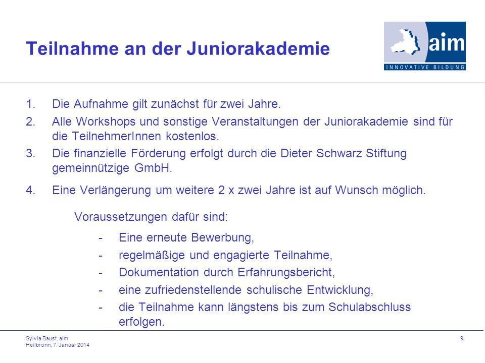 Teilnahme an der Juniorakademie
