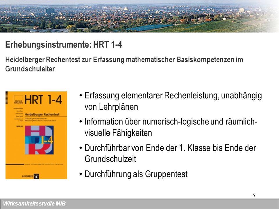 Erhebungsinstrumente: HRT 1-4