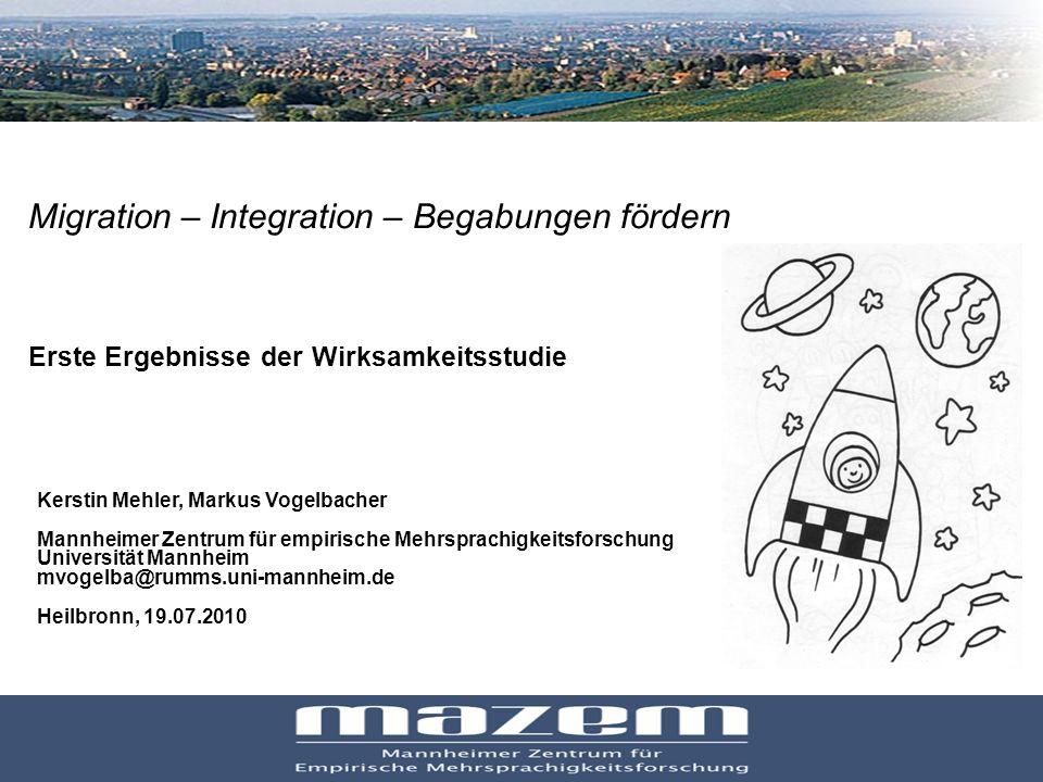 Migration – Integration – Begabungen fördern