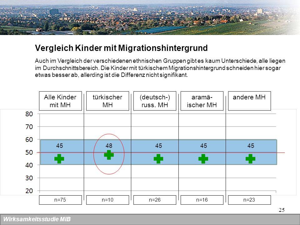 Vergleich Kinder mit Migrationshintergrund