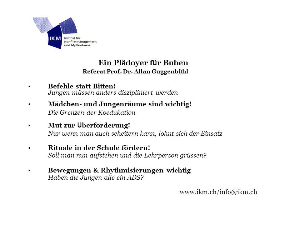Referat Prof. Dr. Allan Guggenbühl