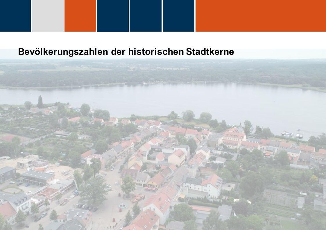 Bevölkerungszahlen der historischen Stadtkerne