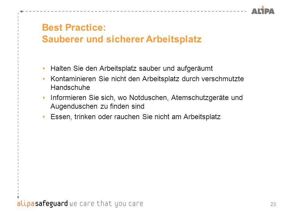 Best Practice: Sauberer und sicherer Arbeitsplatz