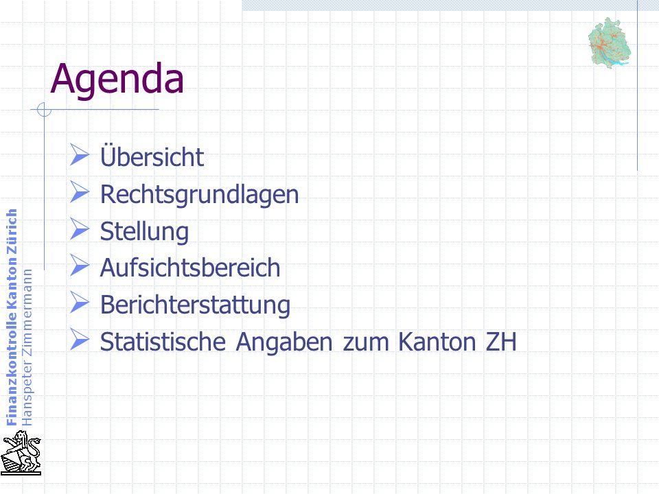 Agenda Übersicht Rechtsgrundlagen Stellung Aufsichtsbereich