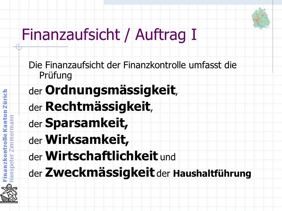 Finanzaufsicht / Auftrag I