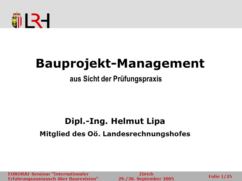 Bauprojekt-Management