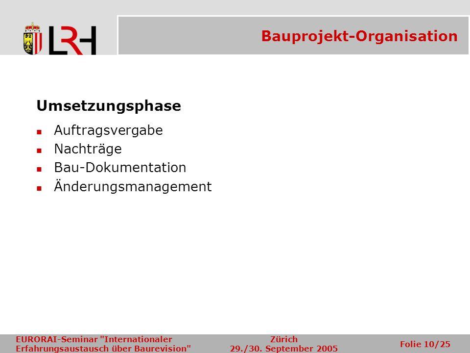 Bauprojekt-Organisation