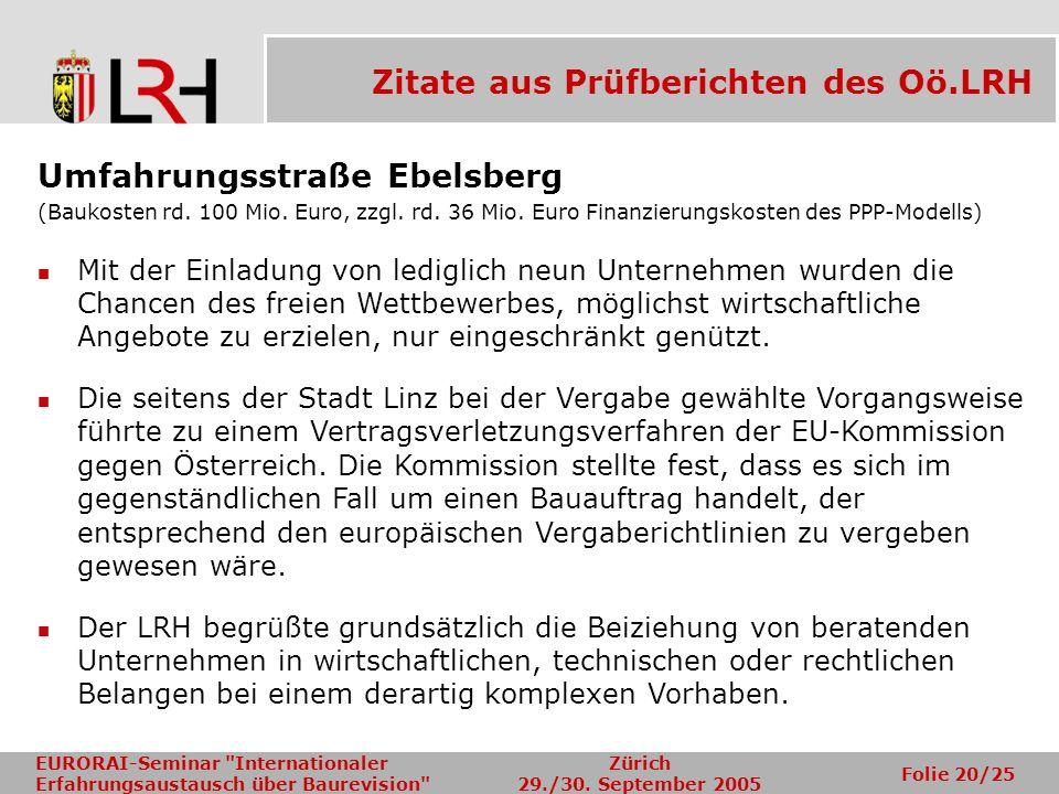 Zitate aus Prüfberichten des Oö.LRH