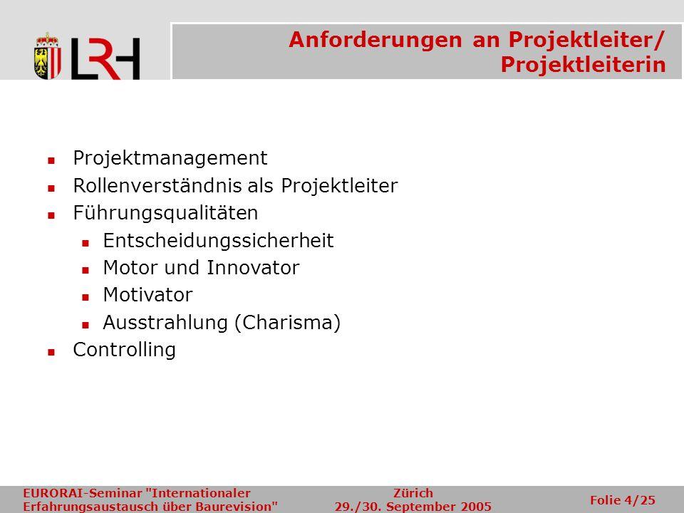 Anforderungen an Projektleiter/ Projektleiterin