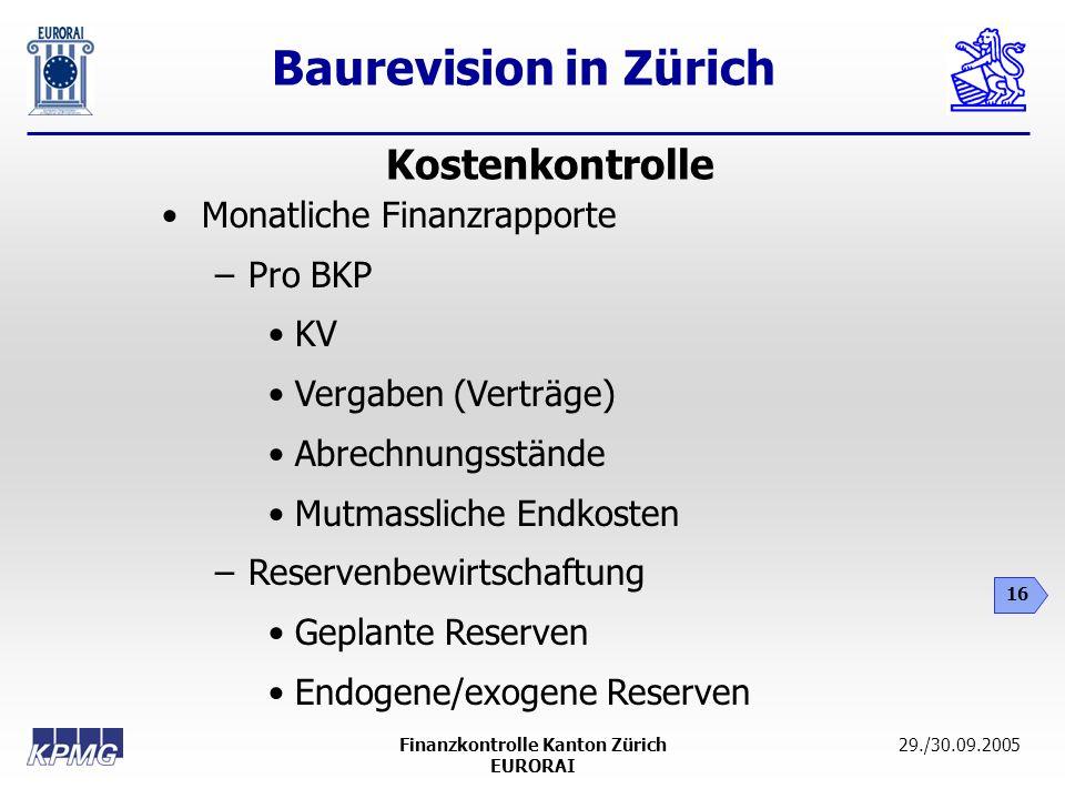 Finanzkontrolle Kanton Zürich
