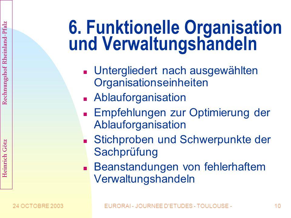 6. Funktionelle Organisation und Verwaltungshandeln
