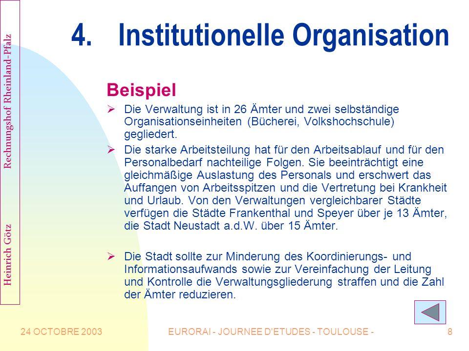 4. Institutionelle Organisation