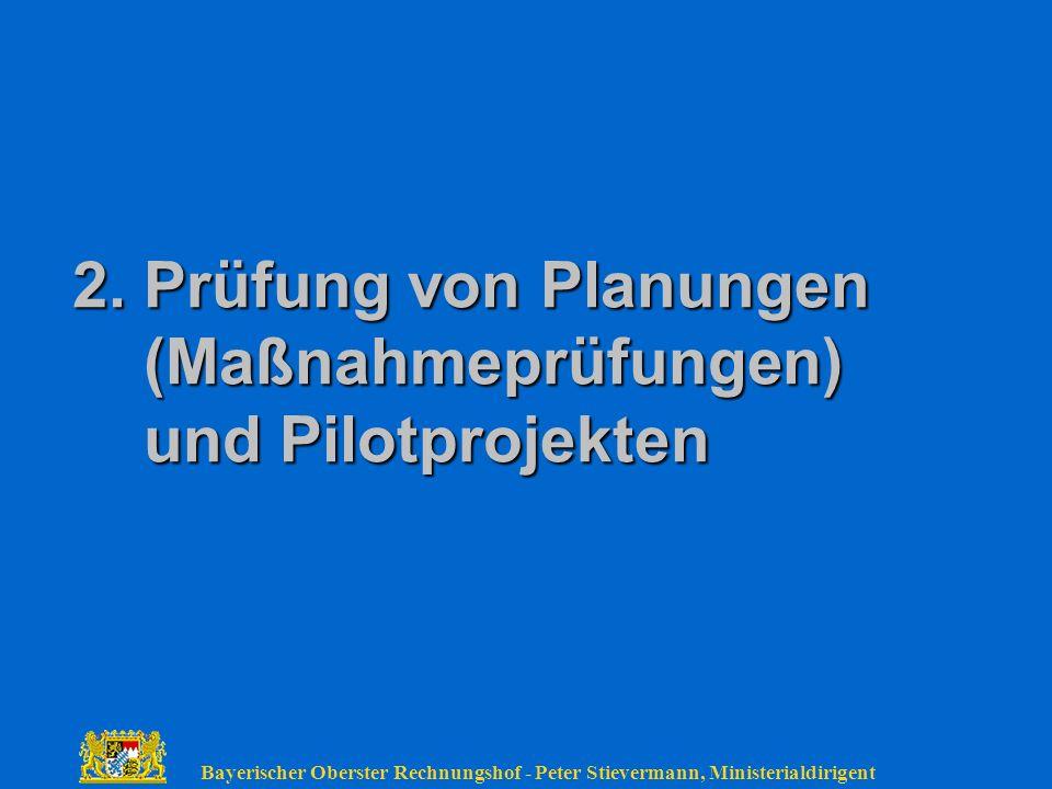 2. Prüfung von Planungen (Maßnahmeprüfungen) und Pilotprojekten