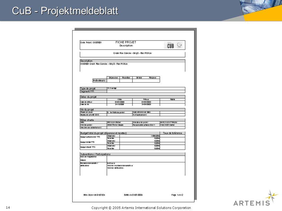 CuB - Projektmeldeblatt