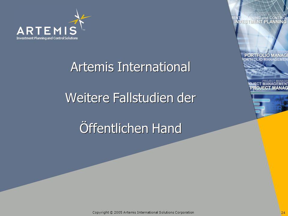 Artemis International Weitere Fallstudien der Öffentlichen Hand