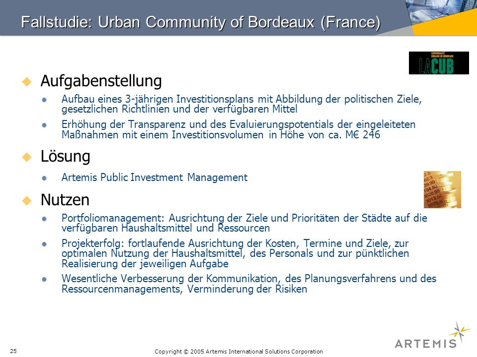 Fallstudie: Urban Community of Bordeaux (France)