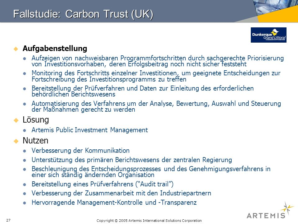 Fallstudie: Carbon Trust (UK)