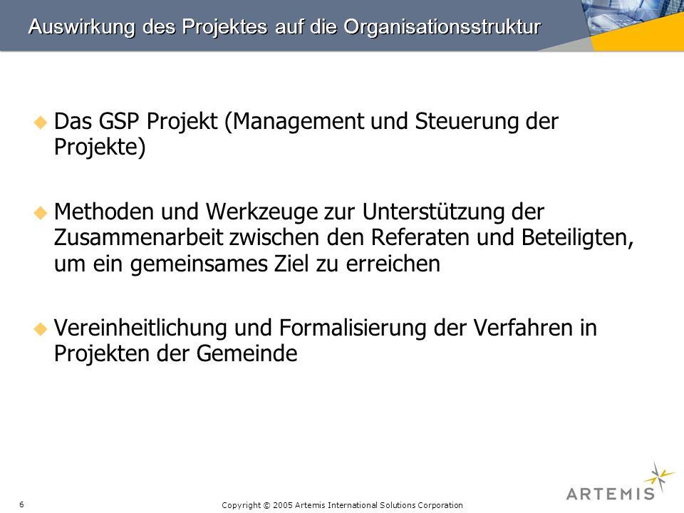 Auswirkung des Projektes auf die Organisationsstruktur