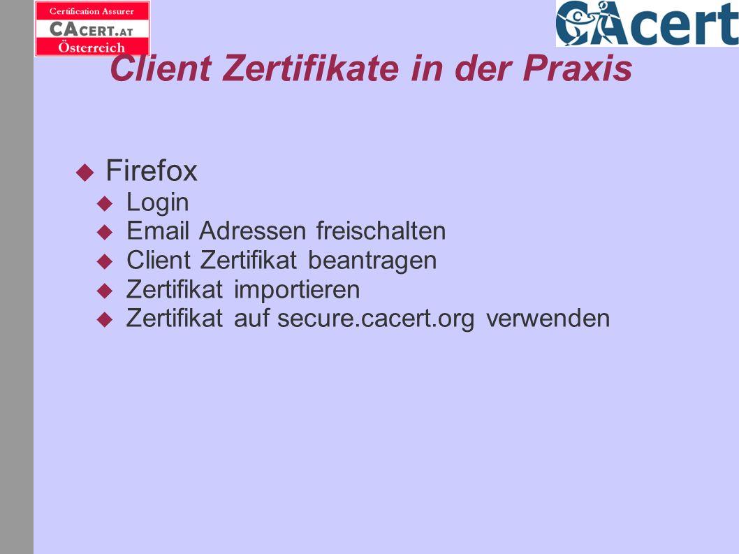 Client Zertifikate in der Praxis