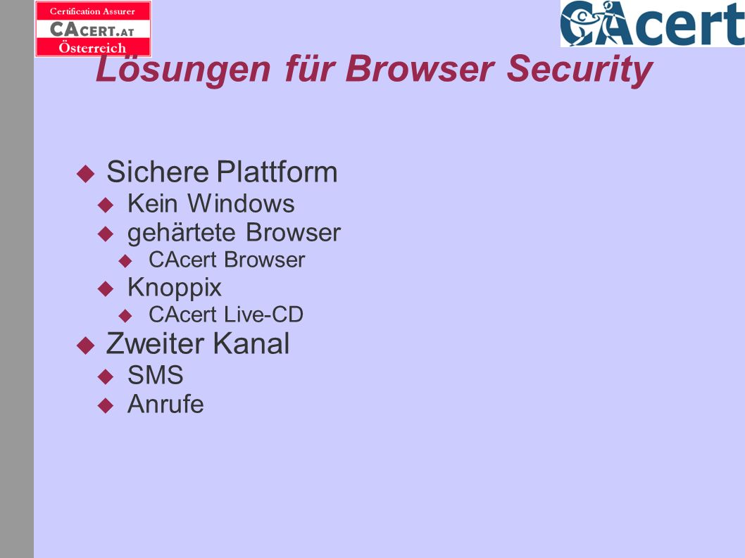 Lösungen für Browser Security