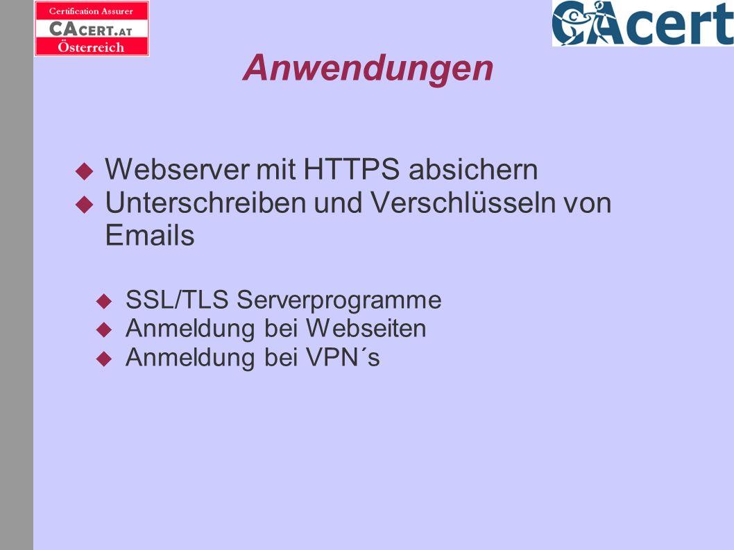 Anwendungen Webserver mit HTTPS absichern