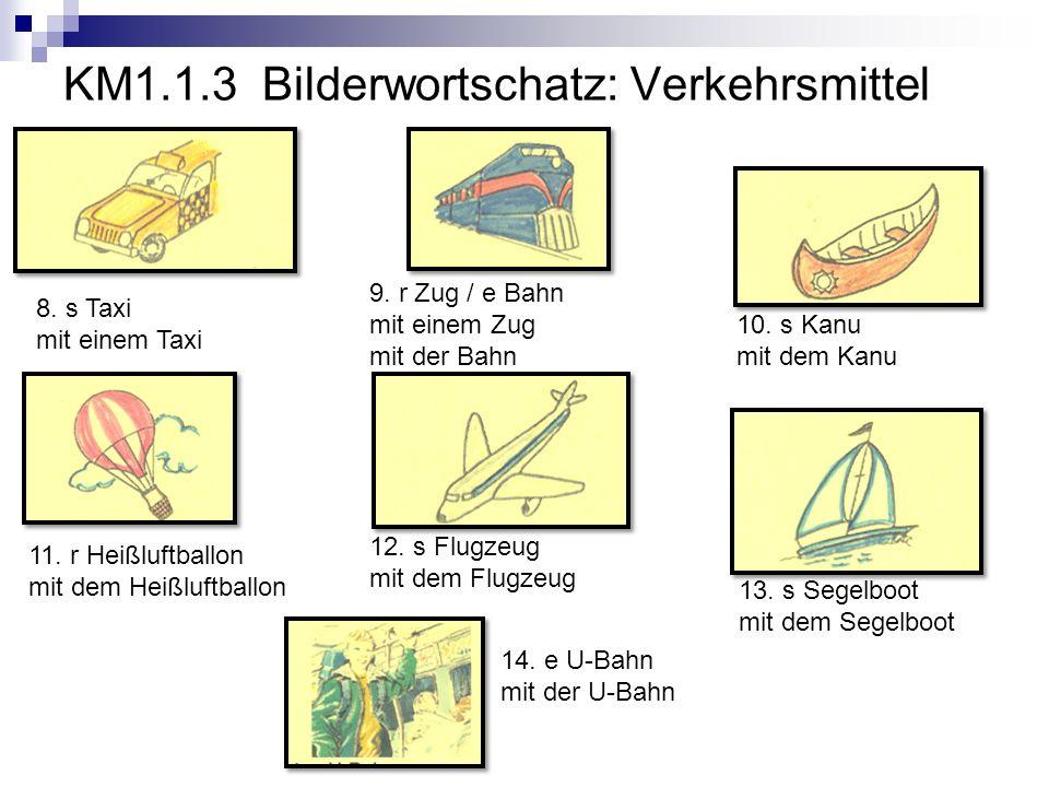 KM1.1.3 Bilderwortschatz: Verkehrsmittel